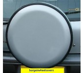 Semi Rigid Plastic Hard SILVER Wheel cover rear spare tyre wheelcover to fit all 4x4 and caravans