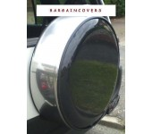Chrome Steel Metal ring 4x4 rear spare wheel cover wheelcover with lock and keys